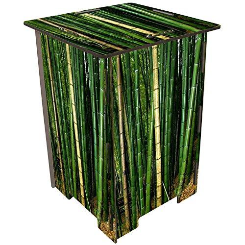 Tabouret en bois imprimé Bambou Werkhaus