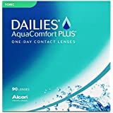 Dailies AquaComfort Plus Toric Tageslinsen weich, 90 Stück / BC 8.8 mm / DIA 14.4 mm / CYL -1.25 / ACHSE 90 / -3 Dioptrien