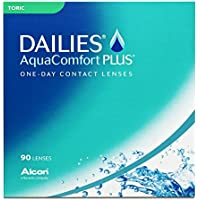 Dailies AquaComfort Plus Toric Tageslinsen weich, 90 Stück / BC 8.8 mm / DIA 14.4 mm / CYL -0.75 / ACHSE 180 / -3 Dioptrien