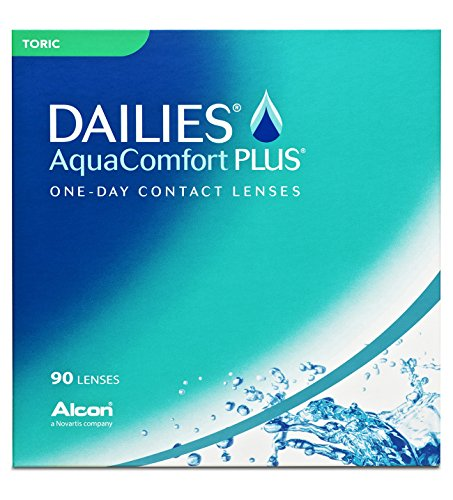Alcon DAILIES AquaComfort Plus Toric Tageslinsen weich, 90 Stück / BC 8.8 mm / DIA 14.4 mm / CYL -0.75 / ACHSE 180 / -2.25 Dioptrien