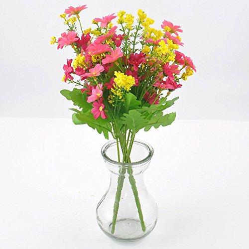Artificial Flowers Künstlichen Blumen Fake Daisy Flower Bouquet Künstliche Blumen für die Dekoration Home Hochzeit Party Dekoration 1Strauß aus Seide,