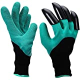 CINAGRO - Garden Gloves with Right Hand Fingertips with 4 ABS Plastic Claws for Pruning, Digging & Planting. (1 Pair)