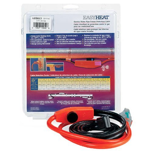 Easy Heat AHB-013 Cold Weather Valve and Pipe Heating Cable, 3-Feet