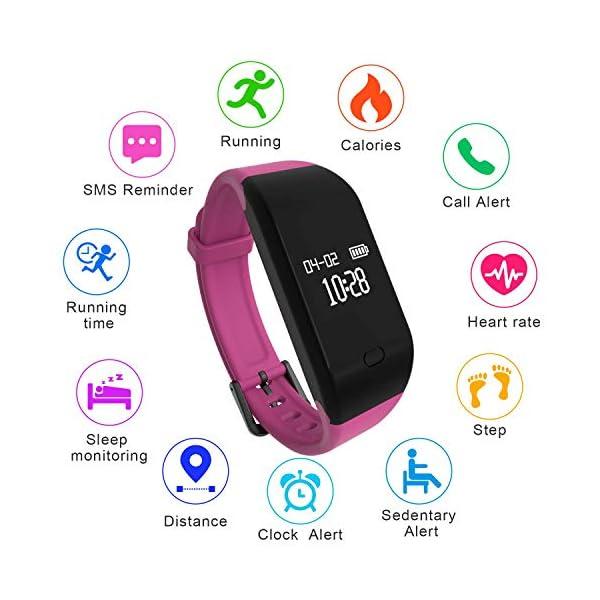 Fitpolo Pulsera de Actividad,Reloj Inteligente para Hombre y Mujer, IP68 Impermeable Reloj Deportivo con Rtmo Cardíaco… 3