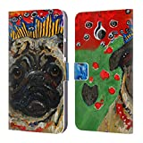 Official Mad Dog Art Gallery Pug Dogs Leather Book Wallet