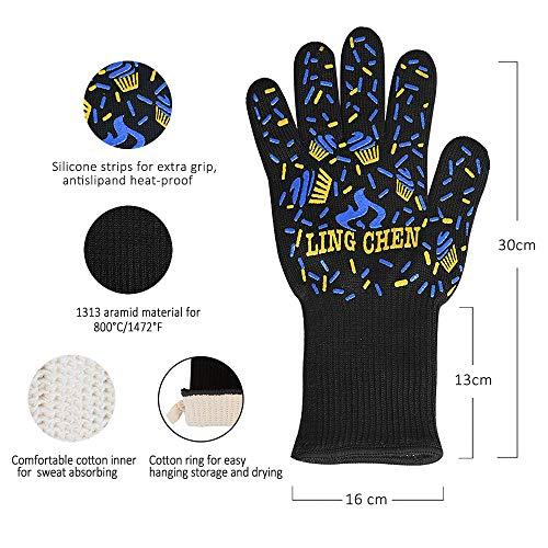 Zoom IMG-2 dinoka guanti grigliati da forno