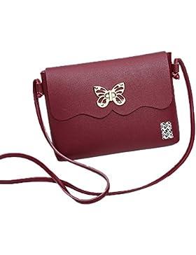 LefRight Gros Geräumig Schmetterling PU-Leder Mini Schultertasche Umhängetasche Handtasche Kleine Crossbody Beutel...