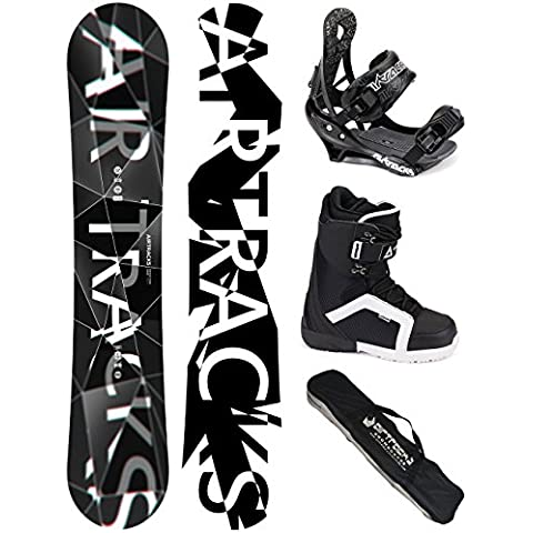 AIRTRACKS SNOWBOARD SET - TABLA REFRACTIONS GAME WIDE (HOMBRE) 161 - FIJACIONES SAVAGE - BOTAS STRONG 43 - SB BOLSA/