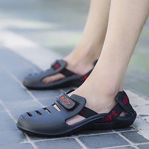Xing Lin Chaussures DÉté Hommes Nouvelles DÉté Chaussures Homme Paresseux Chaussures Hommes Sandales Occasionnels Antidérapant Tendance Chaussures Sandales black