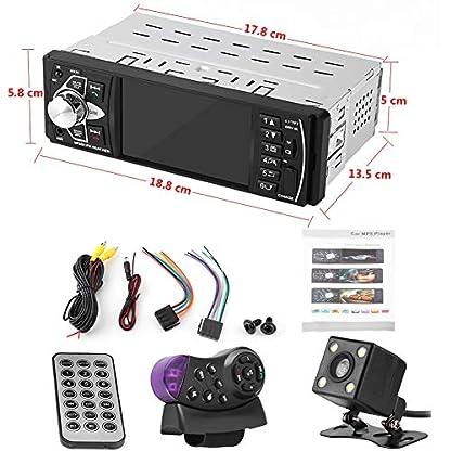 Haofy-Car-MP5-Player-Autoradio-mit-Bluetooth-Freisprecheinrichtung-und-Lenkradsteuerung-41-TFT-Screen-Auto-Radio-mit-USBAUX-inSD-KartenanschlussRckkameraSchnelles-Aufladen-des-Mobiltelefons