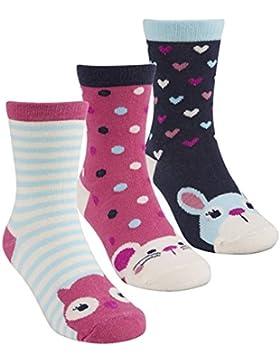 Zest Calcetines de algodón para niñas, diseño de personajes