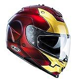 Casco Moto Hjc Marvel Is-17 Ironman Rosso-Oro (Xxs , Rosso)
