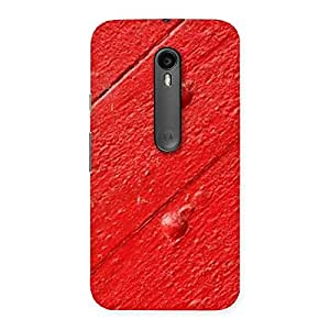 Red Texture Wood Print Back Case Cover for Moto G Turbo