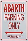 ABARTH Solo parcheggio - parcheggio segni in miniatura regalo ideale per gli appassionati di automobilismo