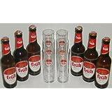 Große Früh Kölsch Vielfalt mit 6x0,33 L Bierflasche Kölsch und 6 Stück Gläser 0,2l