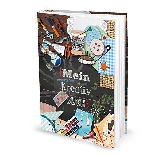ANGEBOT: XXL Kreativ Buch Skizzenbuch Ideenbuch Künstler DIN A4 Geschenkbuch Tagebuch Notizbuch mit 164 leeren Seiten inkl. Inhaltsverzeichnis Bastelbuch Handwerker Bastler Einschreibbuch