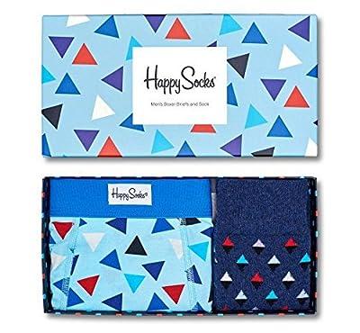 Happy Socks Men's Boxer Brief and Sock Box