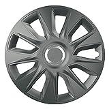 14 Zoll Radzierblenden STRATOS RC GRAPHIT (Grau mit Chromring). Radkappen passend für fast alle VW Volkswagen wie z.B. Polo 9N!