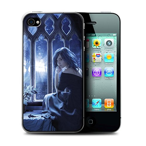 Officiel Elena Dudina Coque / Etui pour Apple iPhone 4/4S / Diamants congelés Design / Art Amour Collection Feuilles séchées