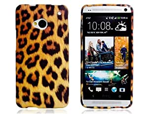Leopard Print TPU Rubber Case for HTC New One/ M7 (Yellow & Black)