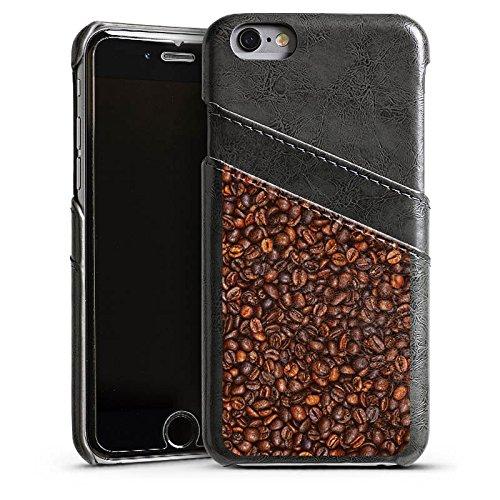 Apple iPhone 4 Housse Étui Silicone Coque Protection Café Haricots Café Étui en cuir gris