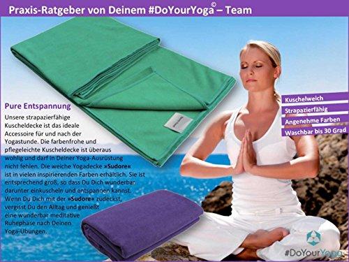 #DoYourYoga Yoga-Decke »Sudore« Die Yogadecke für Hot-Yoga, als Unterlage für Yogaübungen und zur Entspannung danach…