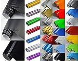 NEOXXIM PREMIUM Auto Folie - GLÄNZEND SCHWARZ GLANZ 30 x 150 cm - blasenfrei mit Luftkanälen ca. 0,15mm dick Folierung folieren bekleben
