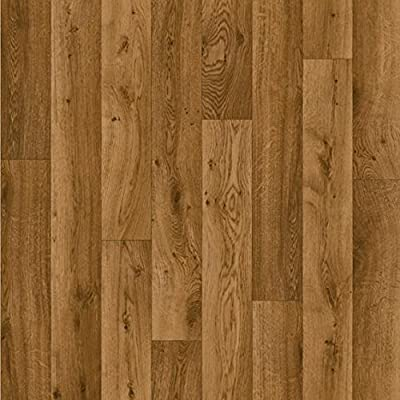 Vinyl Lino Flooring. 2.5mm Thick Antique Oak Wood Effect 5 Year Guarantee Free Next Day Delivery. Buy Direct From Amazons Cheapest Vinyl Seller - inexpensive UK flooring store.