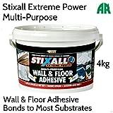 Everbuild Stixall Extreme Power Wand und Boden Selbstklebend | Mehrzweck-| High Performance 4kg