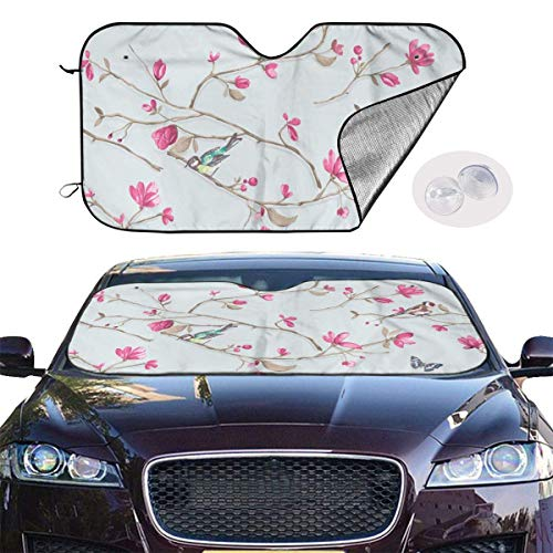 Windschutzscheibe Abdeckung Front Car Wildflower Floral Sunshades for Car Foldable UV Ray Reflector Auto Front Window Sun Shade Visor Shield Cover Keeps Vehicle Cool Vehicle Protection -