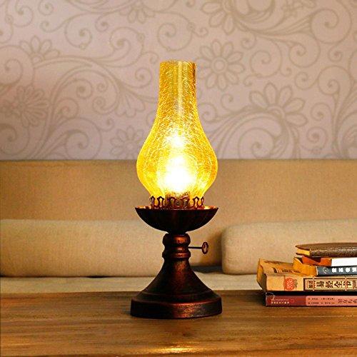 CcCoCc Chinesische Stil Retro Tisch Lampe Alte Stil Kerosin Lampe Schlafzimmer Nachttisch Lampe Kreative Chinesisch Klassische Studie Dekoration Lampe, Yellow (Stil-lampe Alten)
