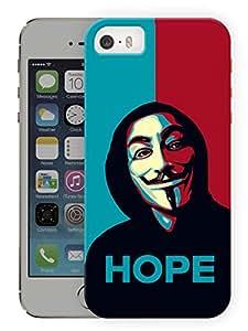 "Humor Gang We Are The Hope - V For Vendetta Printed Designer Mobile Back Cover For ""Apple Iphone 5C"" (3D, Matte Finish, Premium Quality, Protective Snap On Slim Hard Phone Case, Multi Color)"