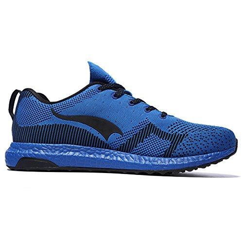 ONEMIX Homme Femme Air Chaussures de course running Sport Compétition Trail Mixte Adulte ete Baskets Basses Blue/Black