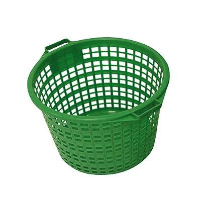 Xclou 343181 Gartenkorb rund 25 kg, Kunststoff, grün von Xclou - Du und dein Garten