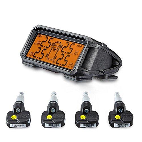 New Large-Screen-Auto-Solar-Wireless-Reifendruck-Monitoring-System eingebaute externe Reifendruck-Gerät