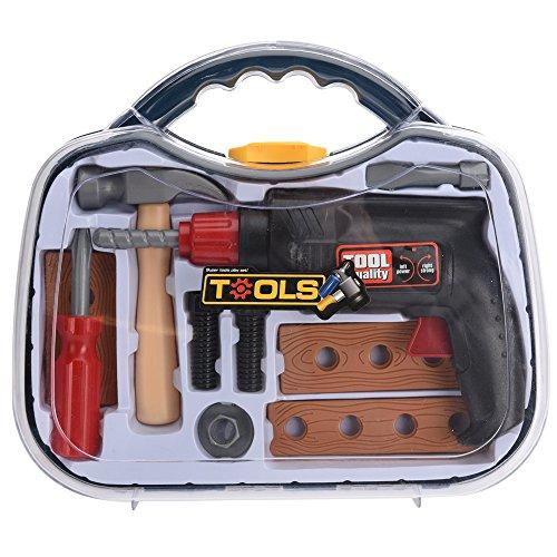 Preisvergleich Produktbild Kinder-Werkzeug-Set mit Hammer, 10-teilig, bunt