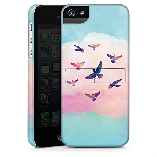 Apple iPhone X Silikon Hülle Case Schutzhülle Vögel Himmel pinke Wolke Premium Case StandUp