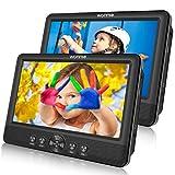 WONNIE 2 Reproductor de DVD Portátil para Coche, con 10.5' Doble Pantallas para Niños Viaje con 5 Horas Batería Recargable Compatible con Tarjeta SD y USB