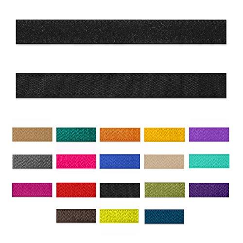 SIMON PIKE 1m Klettband 1,5 cm breit in grün, Klett flausch und Hacken zum nähen, 1 Meter Klett Hackenband und Flauschband am Stück -