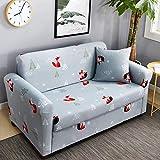 LJ-SFJ Stretch hussen, Sofaüberwurf, Möbel-beschützer mit elastischen Boden, Super weich Anti-rutsch, 1 2 3 4 Personen Sofa-L Loveseats(57-73inch)