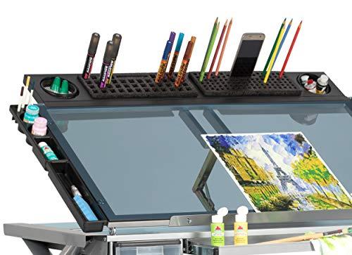 Studio Designs Art Tablett, Metall, anthrazit schwarz, 90x 16,5x 10cm Design Schaum-cup