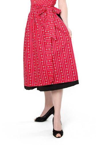 trachtige Dirndlschürze Evi pink,grün oder rot Baumwolle Trachtenschürze, 69 cm, Midi Schürze, Trachtenmode für Damen, nicht nur für das Oktoberfest