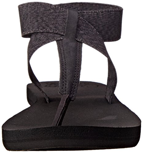 Reef Cushion Moon, Tongs Femme Noir (Black)