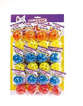 Classic Pet Products Treillis Balles de Jeu en Plastique, Bleu/Jaune