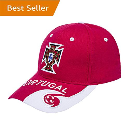 Portugal National Team Soccer Cap - Adjustable EmbroideRed Authentic 2018 Russia World Cup Fans Red Baseball Cap Hats