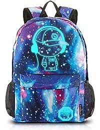 Dracarys Anime Galaxy Mochila Luminosa - Mochila Escolar con Puerto de Carga USB - Daypack Ambulante