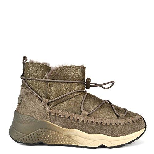 Ash Footwear Mitsouko Bronze Shearling Lined Boot 39EU/6UK Bronze