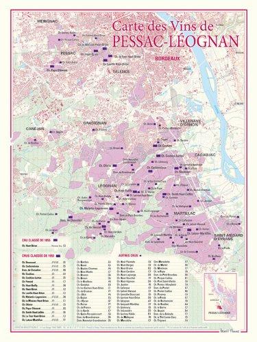 Carte des vins de Pessac-Leognan (Graves) par Benoit France