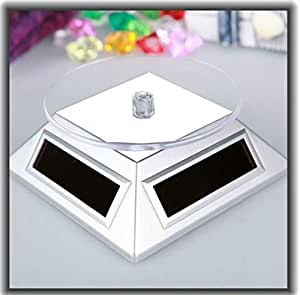 SHOPINNOV Présentoir rotatif solaire Blanc Idéal pour bijou ou montre