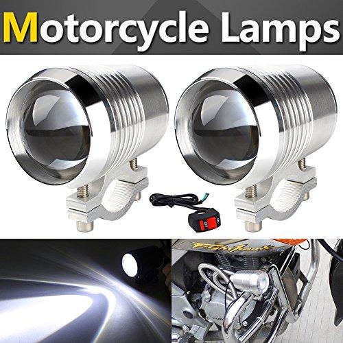 TABEN moto xeno fendinebbia faretti orientabili bianco metallo impermeabile luminoso CREE U2LED universale moto bici elettrica guida faro spot lampada + 1PCS interruttore on/off